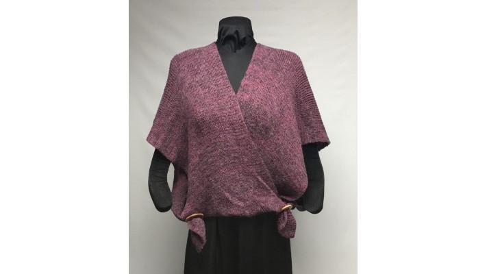 Samouraï bouton de rose, gris mohair