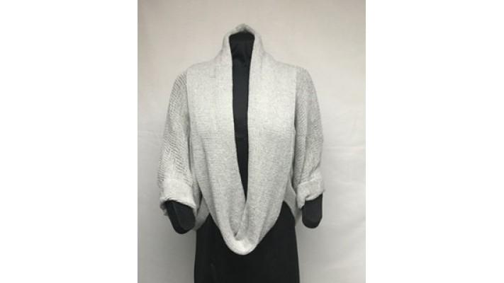 Col rond gris tweed