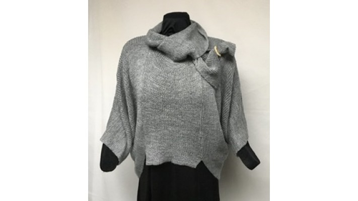 Frileuse bouton tweed gris