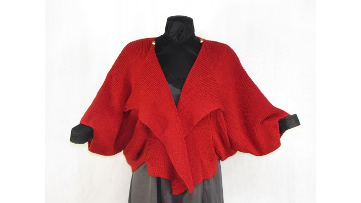 veste carrée rouge