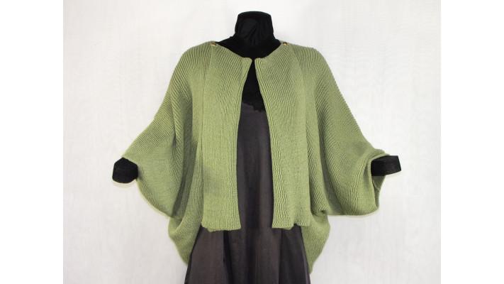 veste carrée vert sauge