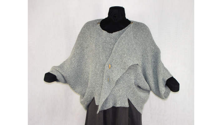 Veste carrée gris tweed