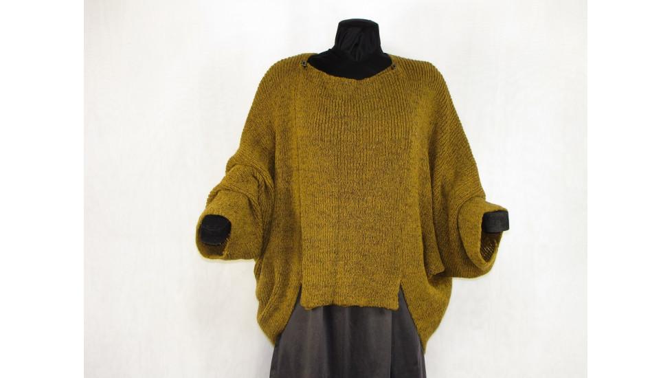 veste carrée moutarde tweed
