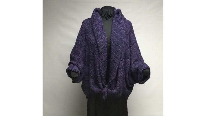 Châle violet marine