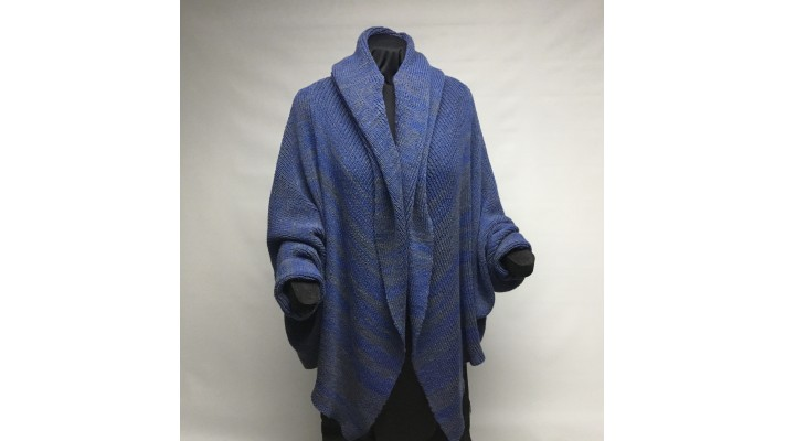 Châle bleu royal gris