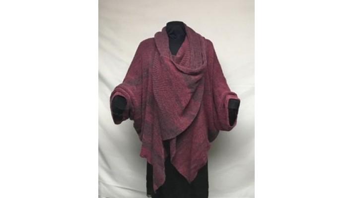 Palla bouton de rose tweed gris