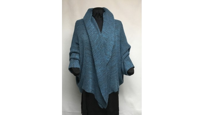 Châle tweed paon, gris