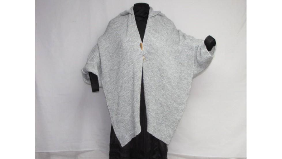 Shawl - grey and white