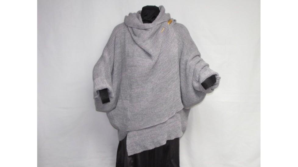 Châle - rose gris
